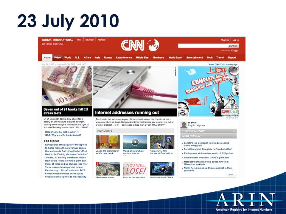 23 July 2010