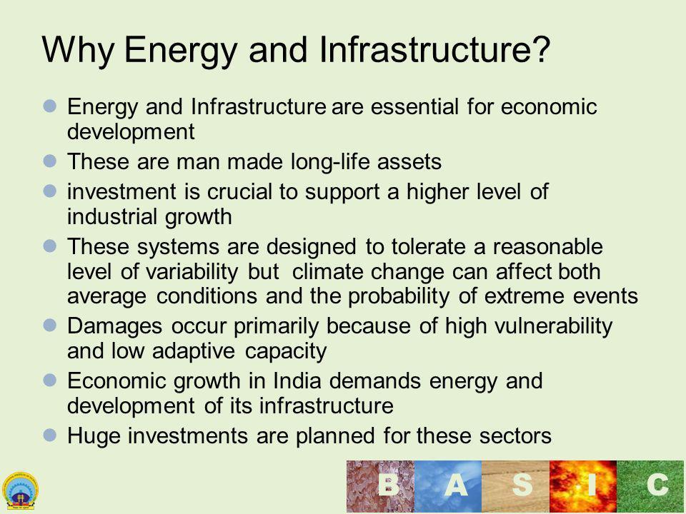 Maulana Azad National Institute of Technology, Bhopal, India BASI C Why Energy and Infrastructure? Energy and Infrastructure are essential for economi