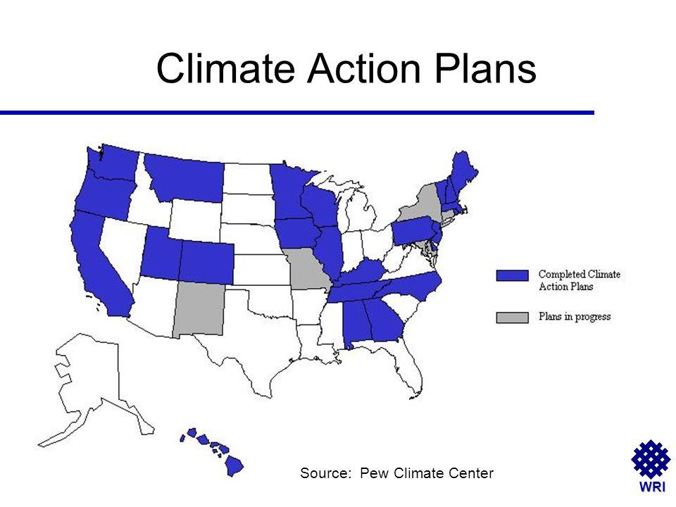 WRI Climate Action Plans Source: Pew Climate Center