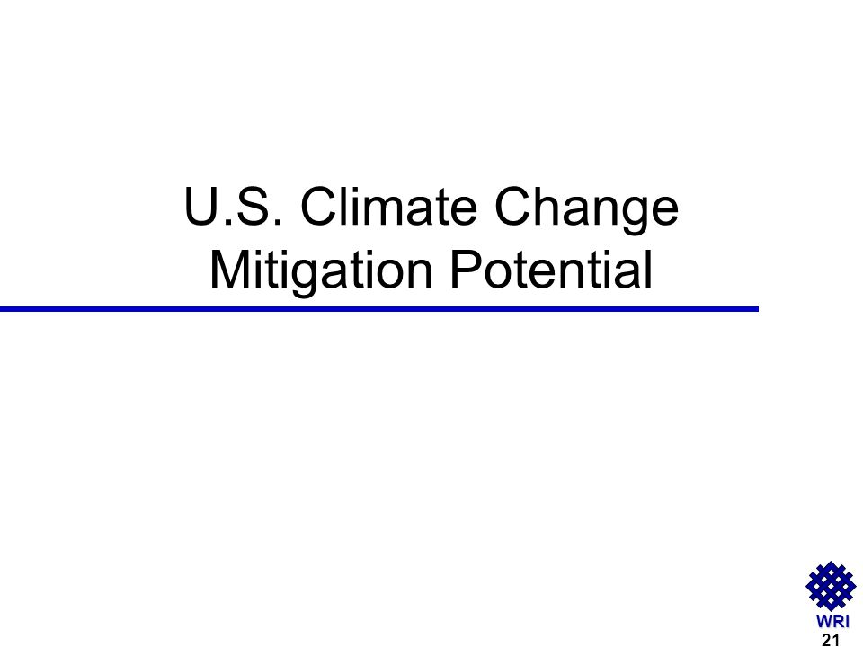 WRI U.S. Climate Change Mitigation Potential 21