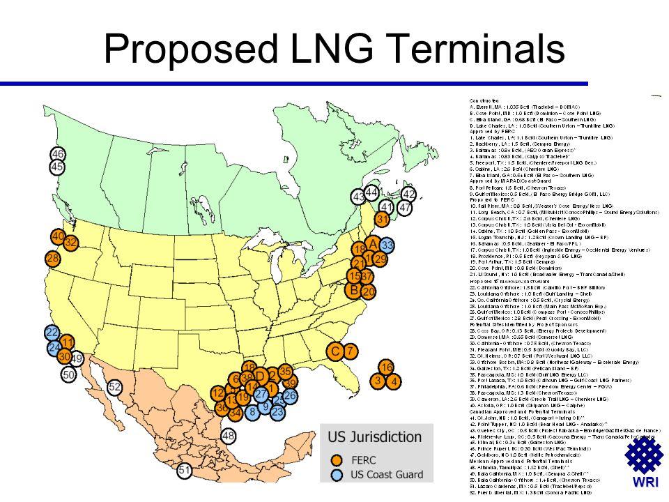 WRI Proposed LNG Terminals