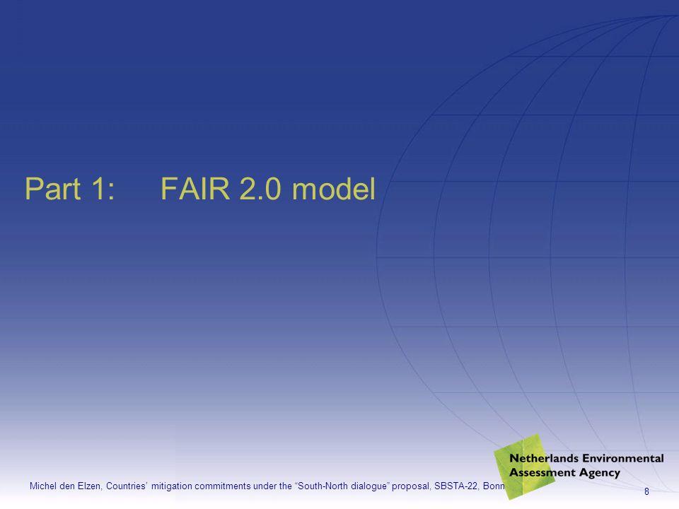 Michel den Elzen, Countries mitigation commitments under the South-North dialogue proposal, SBSTA-22, Bonn 19 FAIR website: www.rivm.nl/fair