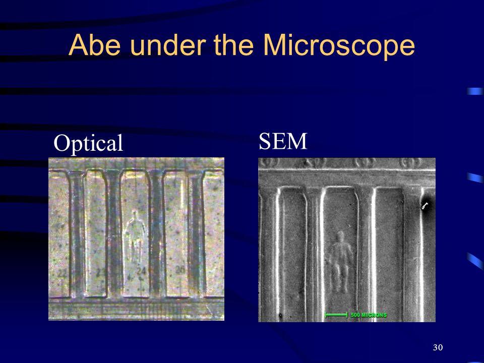 30 Abe under the Microscope Optical SEM