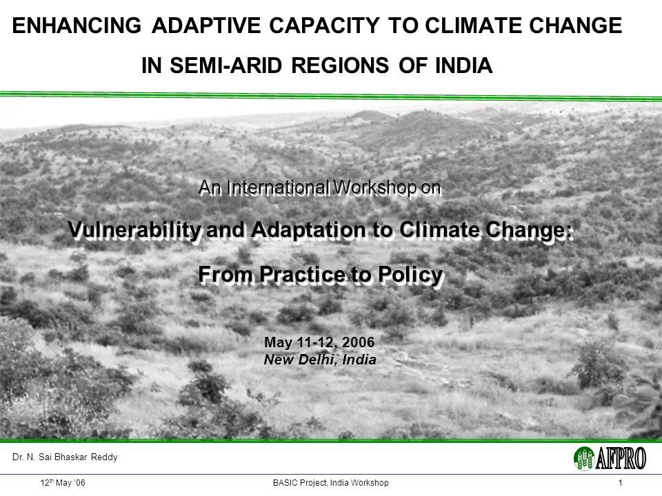 12 th May 06Basic Project, India Workshop22 V & A Programme Andhra Pradesh Mahabubnagar District