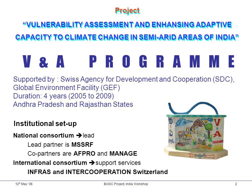 12 th May 06Basic Project, India Workshop3 Semi-arid regions .