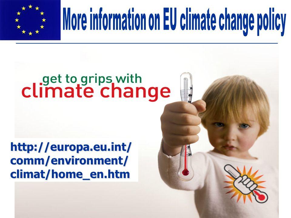 European Commission: DG Environment http://europa.eu.int/ comm/environment/ climat/home_en.htm
