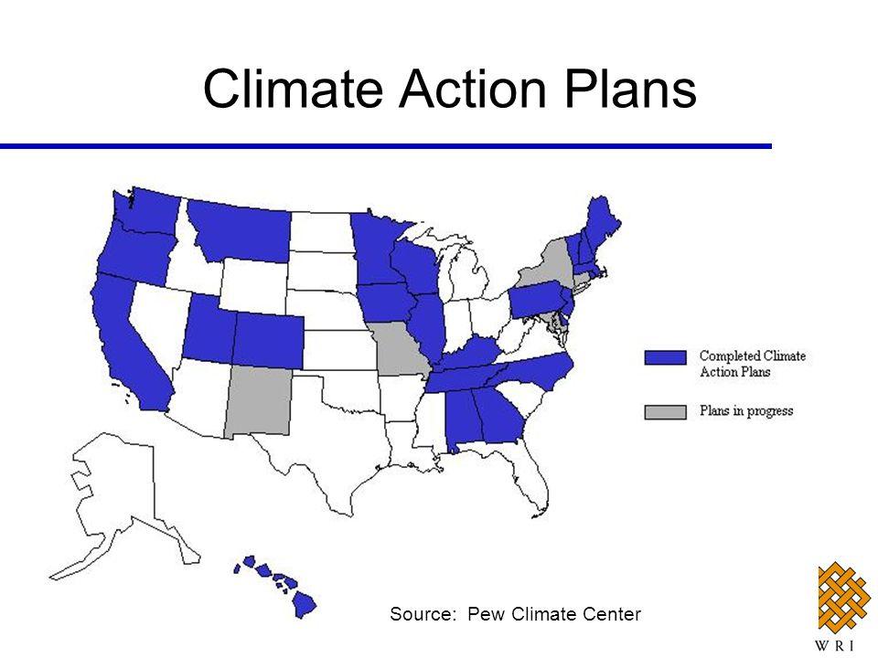Climate Action Plans Source: Pew Climate Center