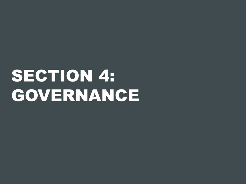 SECTION 4: GOVERNANCE