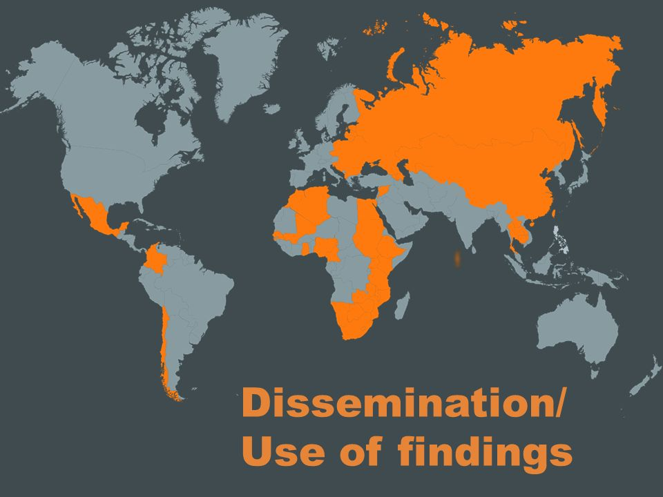 Dissemination/ Use of findings
