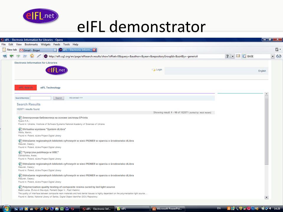 eIFL demonstrator