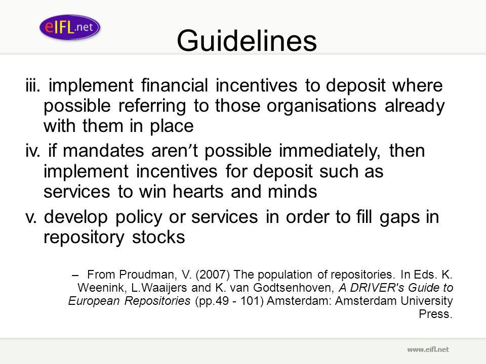 Guidelines iii.