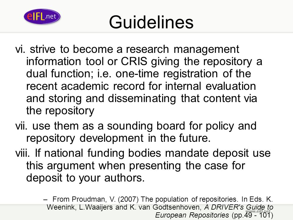 Guidelines vi.