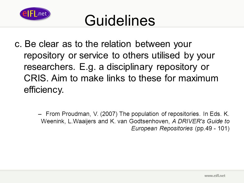 Guidelines c.