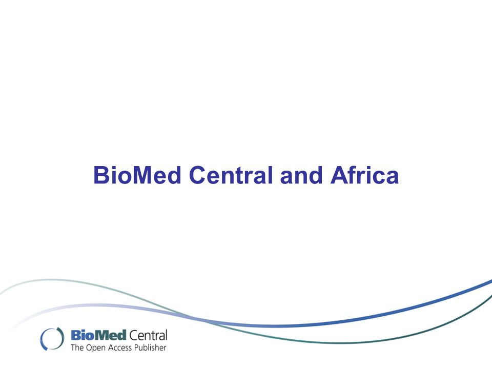 BioMed Central and Africa