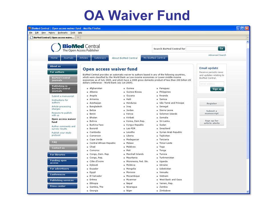 OA Waiver Fund