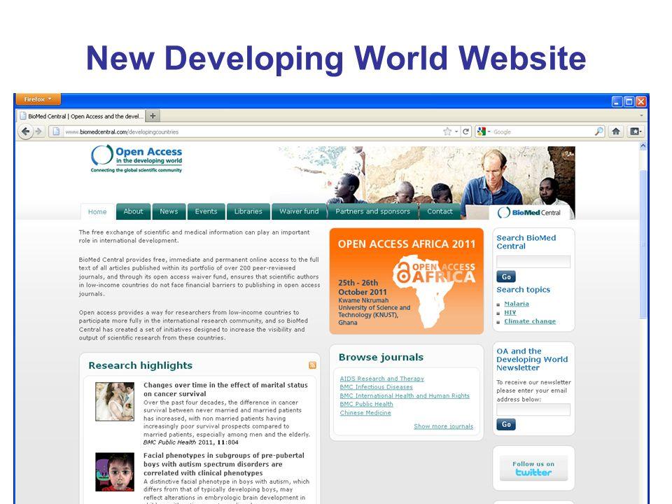 New Developing World Website