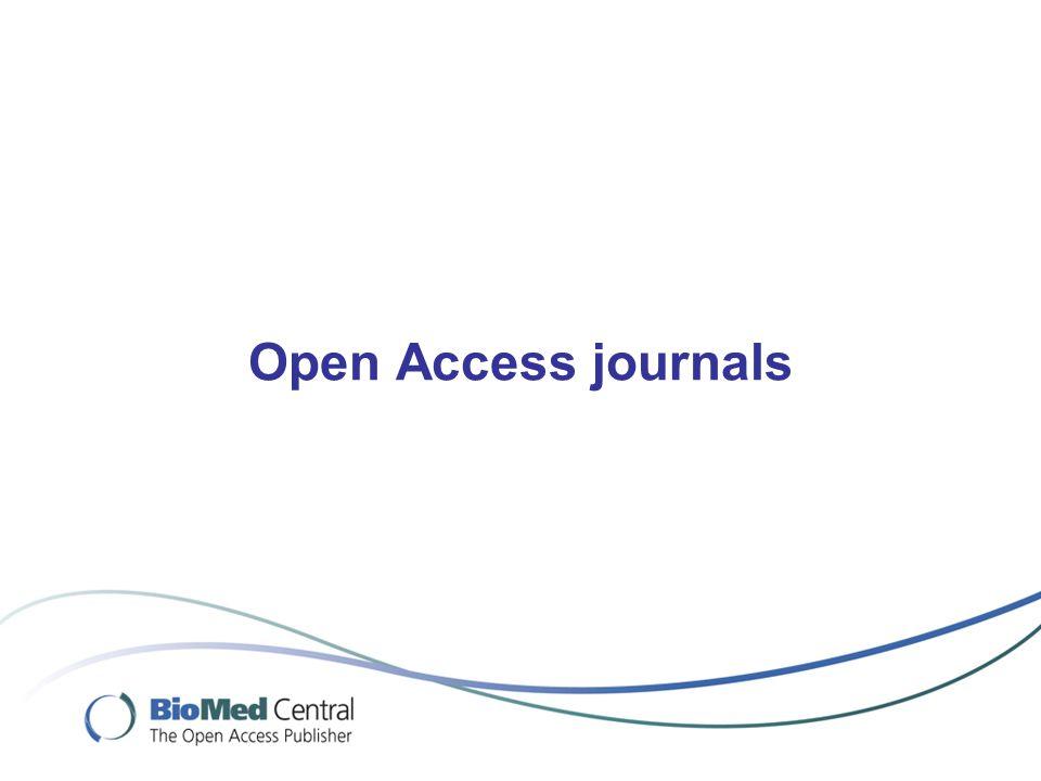 Open Access journals