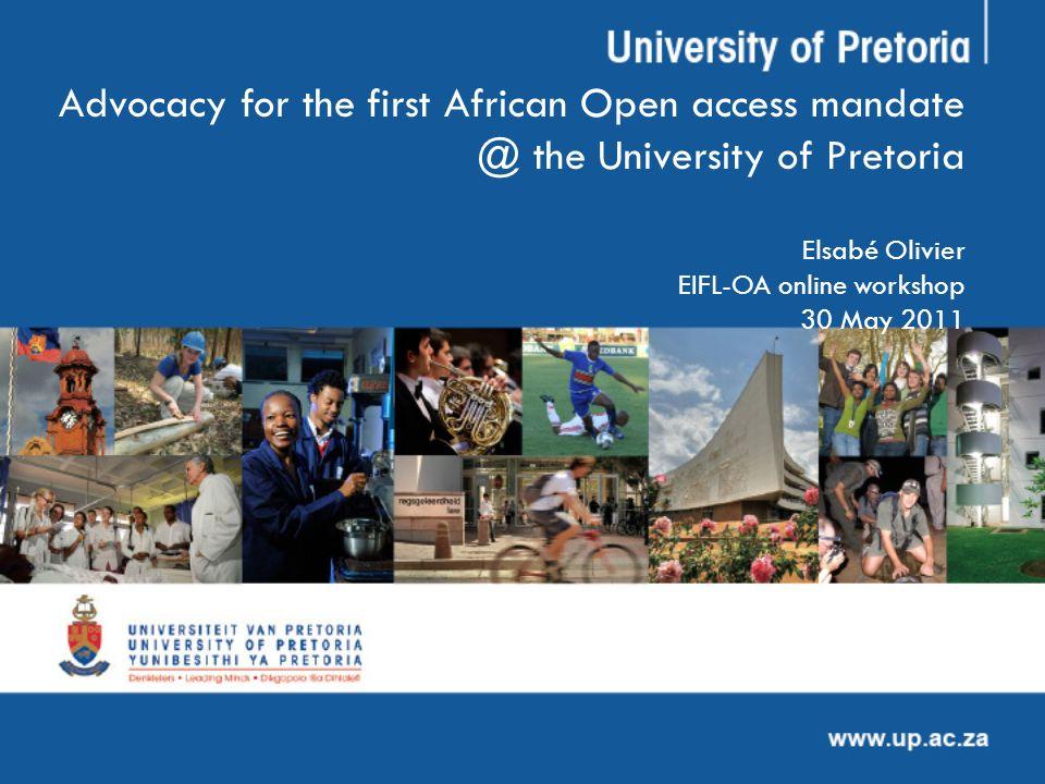 Departmental advocacy : presentations