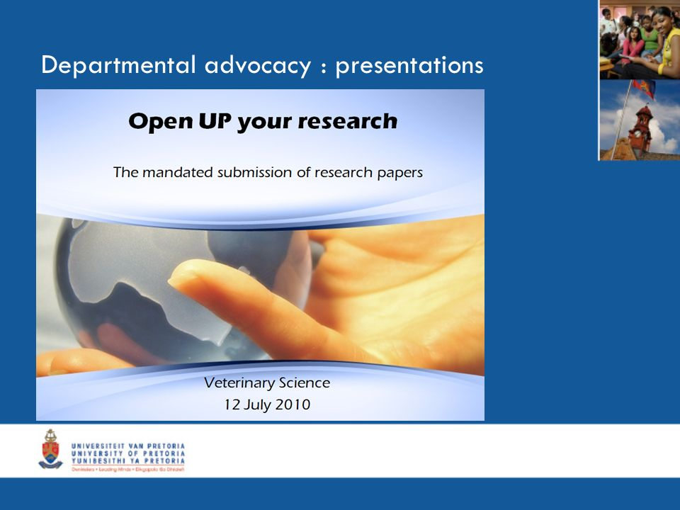 Departmental advocacy : presentations