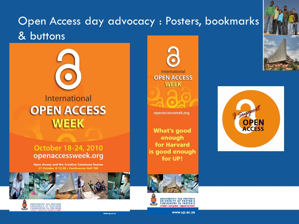 Open Access day advocacy : Posters, bookmarks & buttons