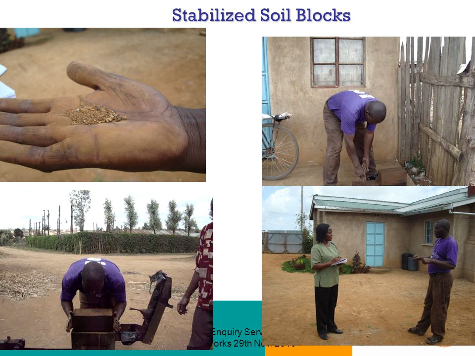 Technical Enquiry Service (TES) - How it works 29th Nov Stabilized Soil Blocks