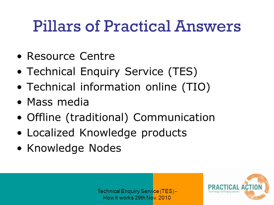 Technical Enquiry Service (TES) - How it works 29th Nov.