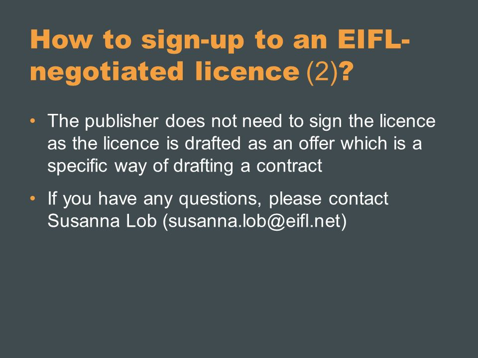 How to sign-up to an EIFL- negotiated licence (2) .