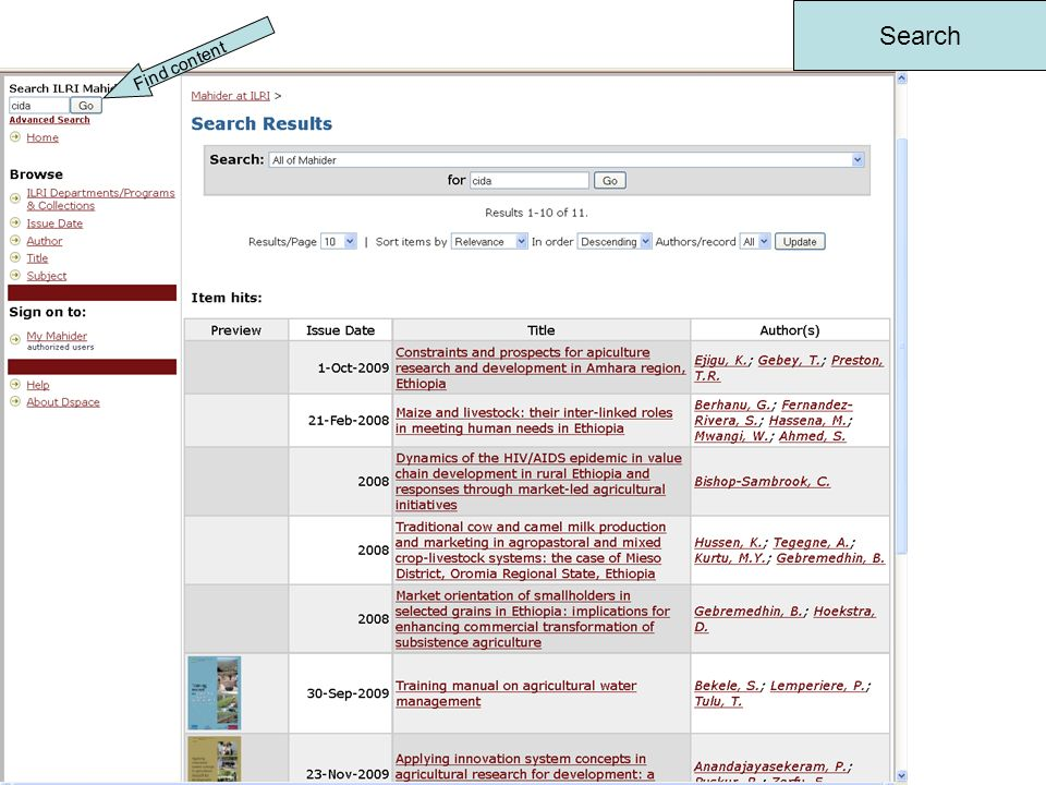 Link to Blog Links to Mahider outputs