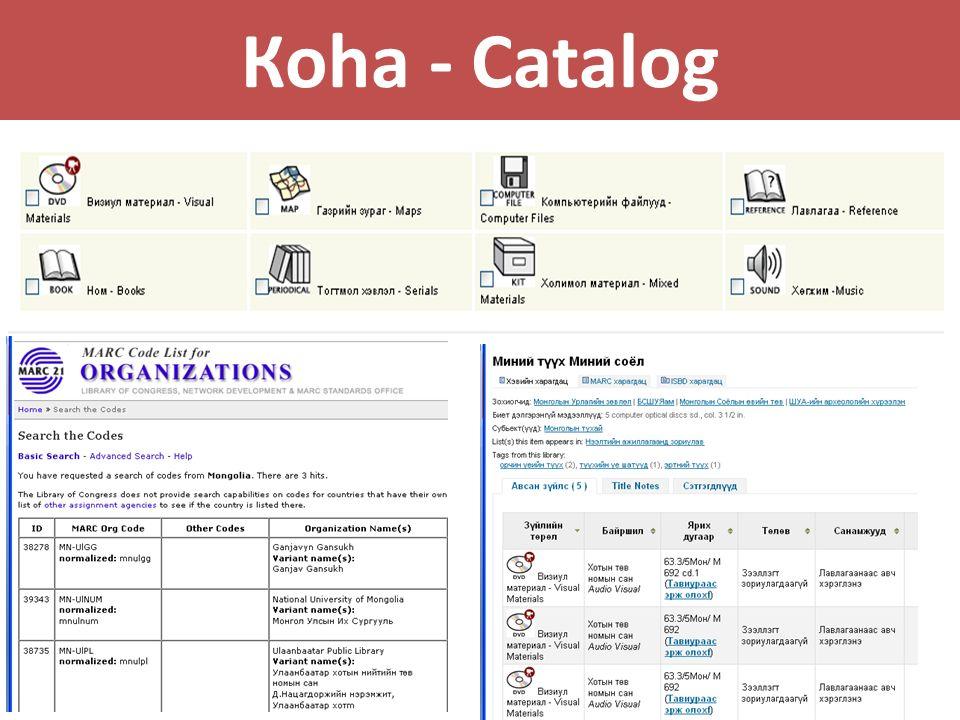 Коha - Catalog
