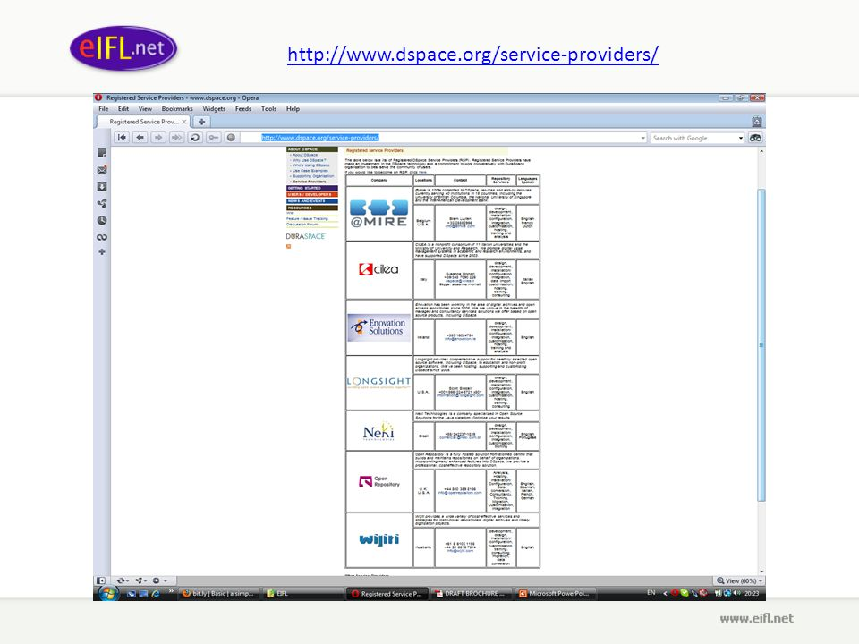 http://www.dspace.org/service-providers/