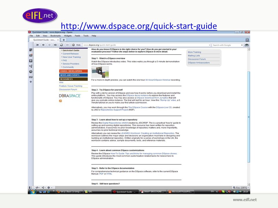 http://www.dspace.org/quick-start-guide