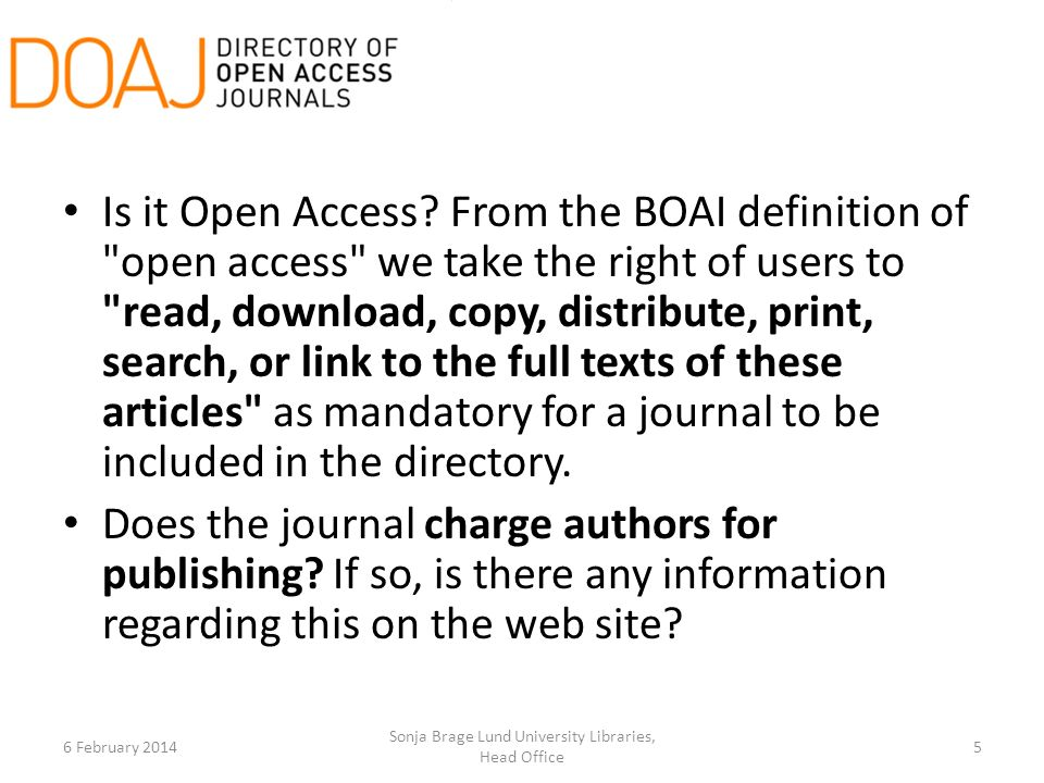 Is it Open Access.
