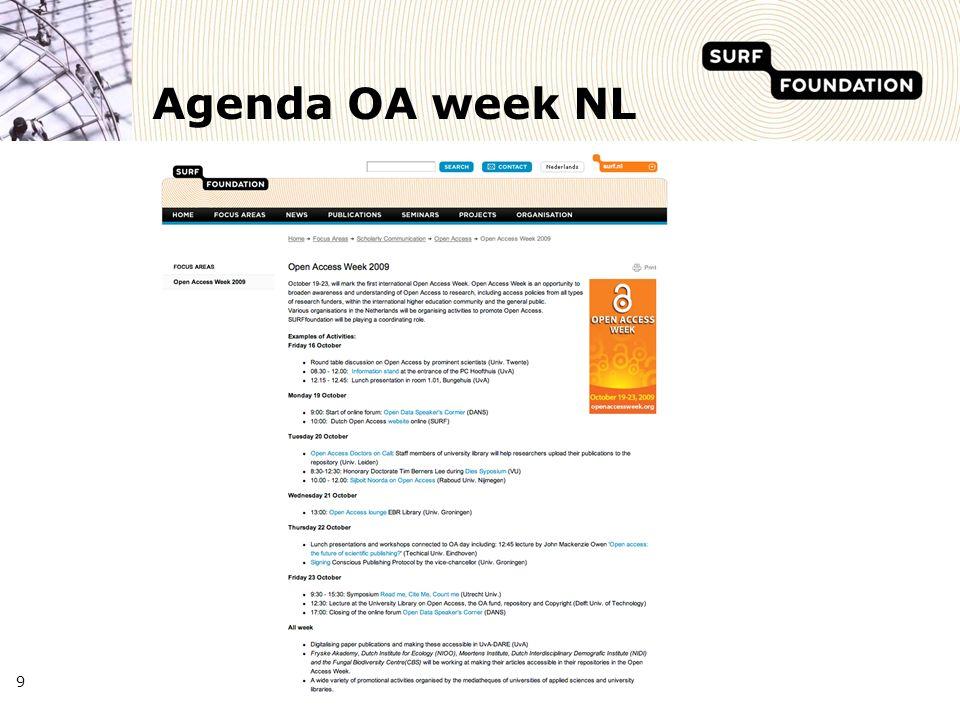 Agenda OA week NL 9
