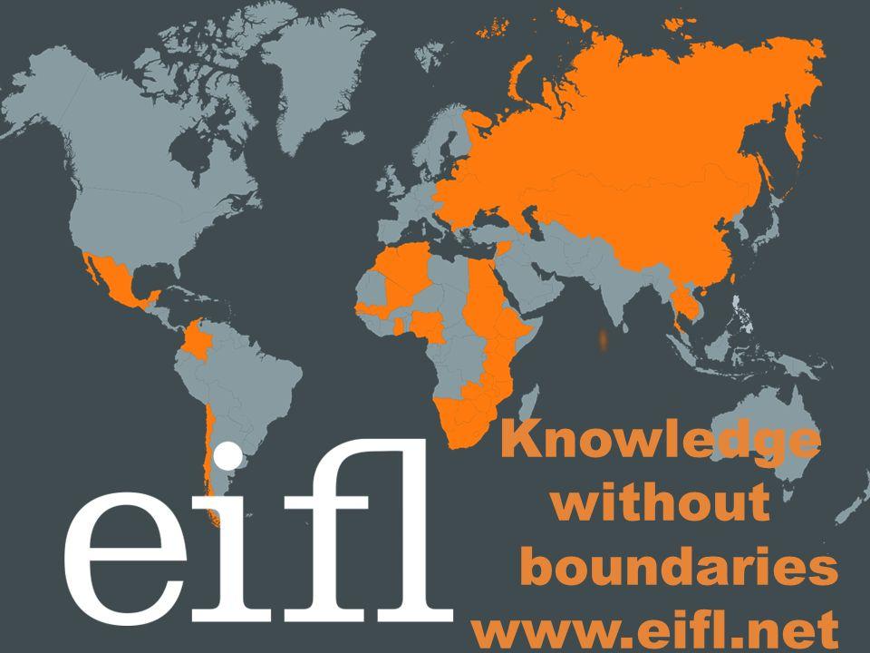Knowledge without boundaries www.eifl.net