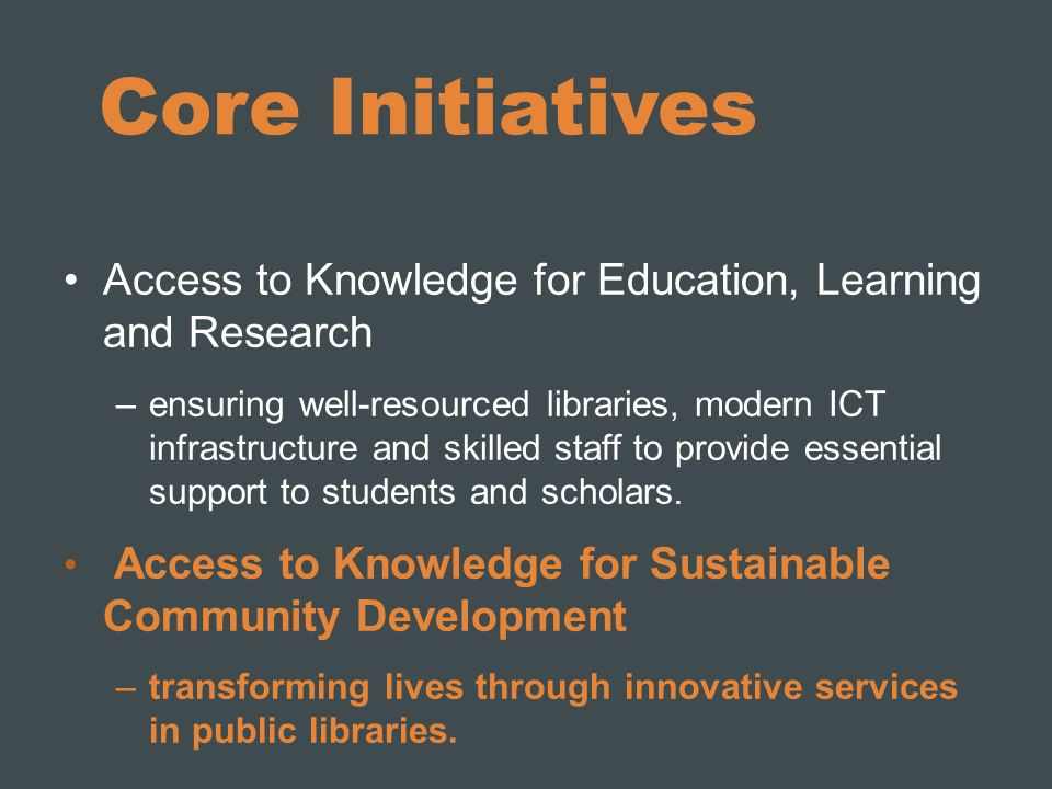 EIFL Programmes EIFL-Licensing EIFL-OA: open access EIFL-IP: copyright and libraries EIFL-FOSS: free and open source software EIFL-PLIP: Public Library Innovation Programme
