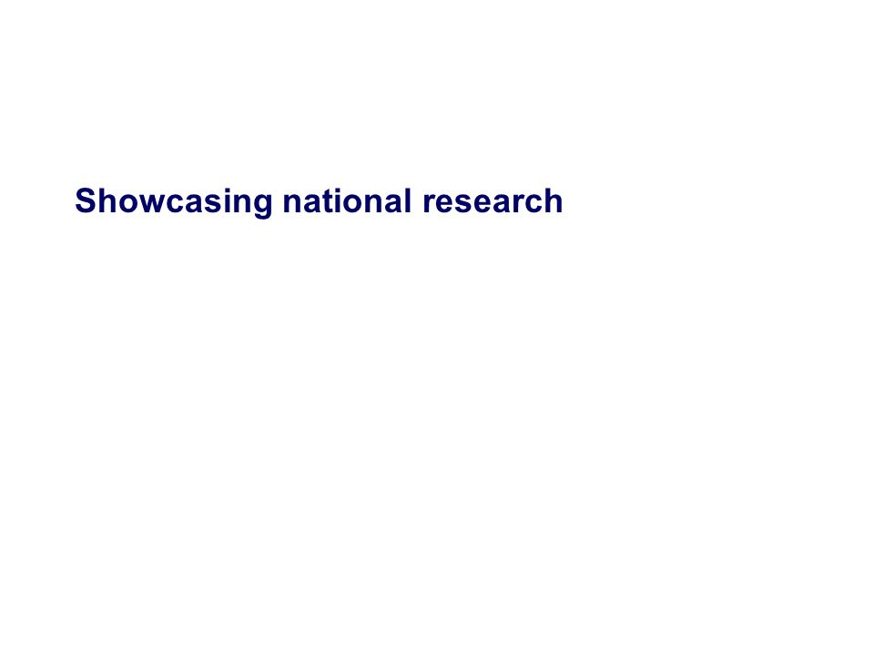 Showcasing national research