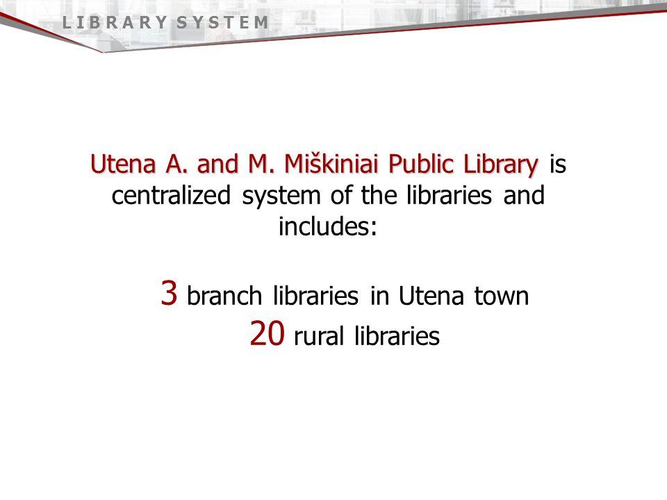 Utena A. and M. Miškiniai Public Library Utena A.
