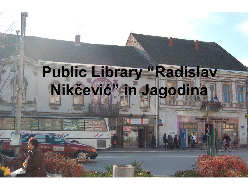 Public Library Radislav Nikčević in Jagodina