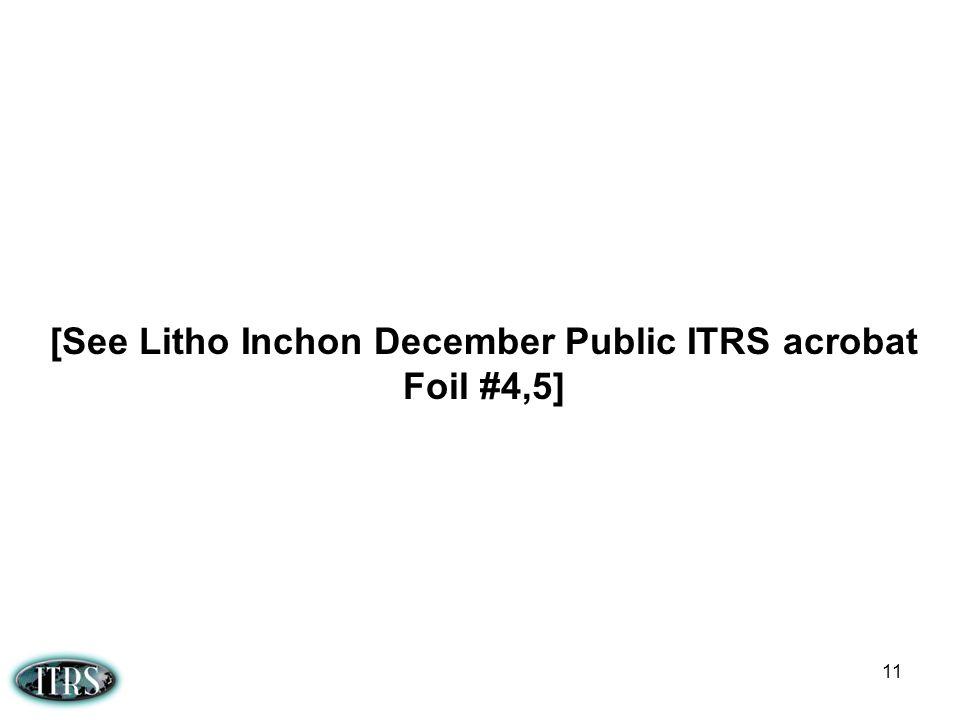 11 [See Litho Inchon December Public ITRS acrobat Foil #4,5]