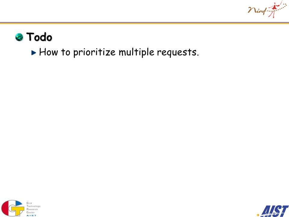 Todo How to prioritize multiple requests.