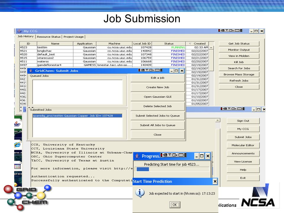 National Center for Supercomputing Applications Job Submission