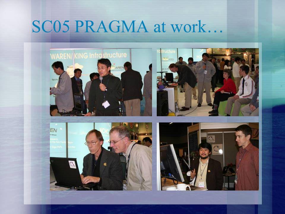 SC05 PRAGMA at work…