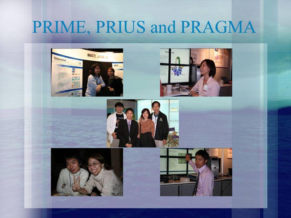 PRIME, PRIUS and PRAGMA