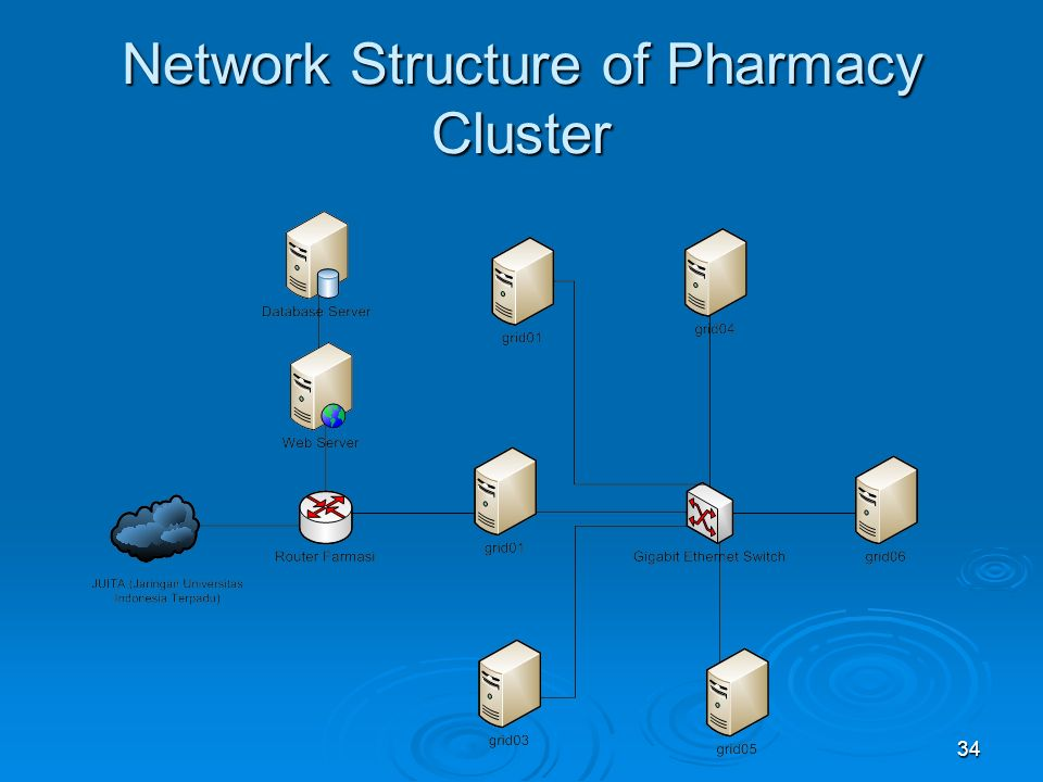 34 Network Structure of Pharmacy Cluster
