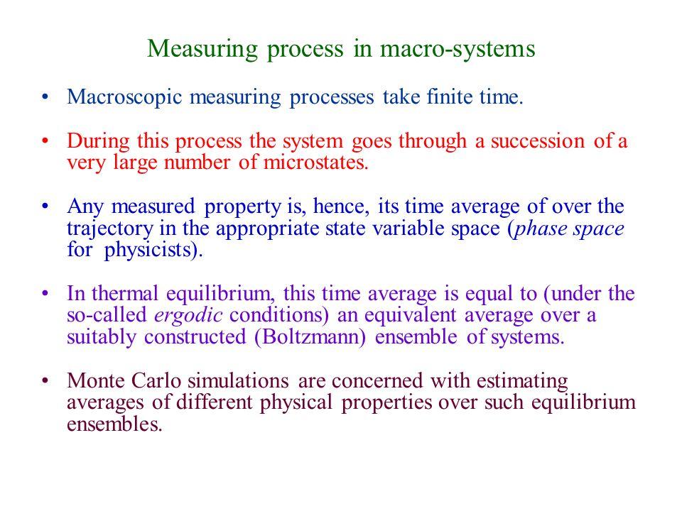 Measuring process in macro-systems Macroscopic measuring processes take finite time.