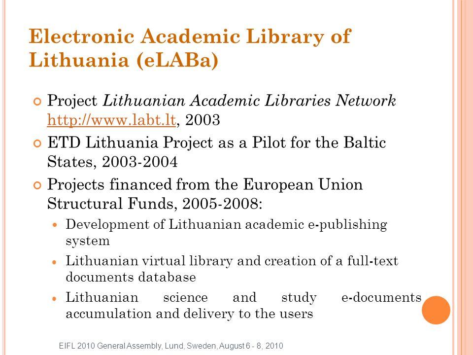 eLABa COLLECTIONS