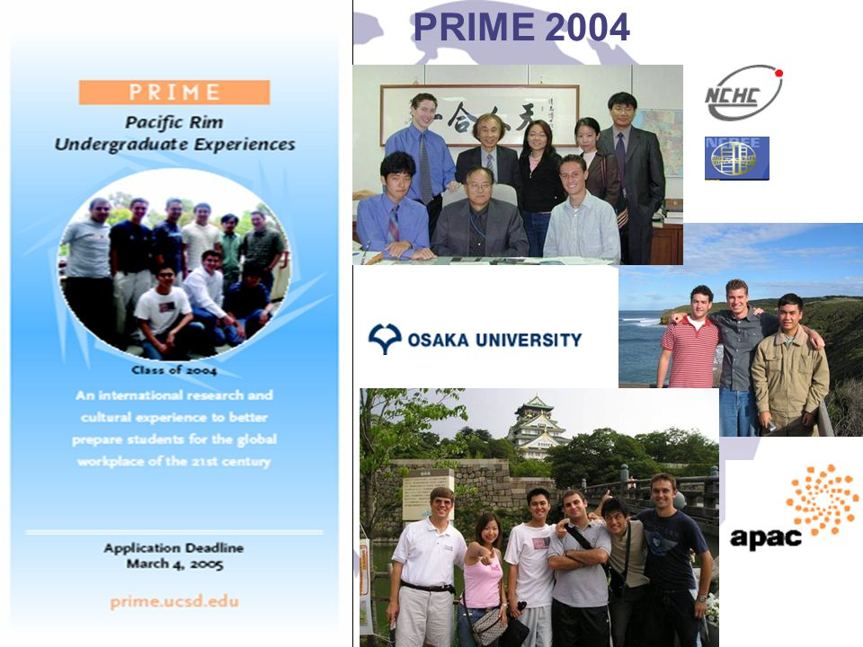 Plans for the Future Expand to more host sites –We expanded this year to CNIC Expand to more US institutions –We are sending one from Wisconsin to NCHC Start having students come to the US –We will start this summer with one from Jilin University Expand the type of applications –Wed really like structural engineering, geosciences in addition to all of the current activities.