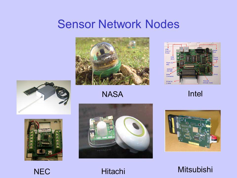 Sensor Network Nodes NEC Hitachi Mitsubishi Intel NASA