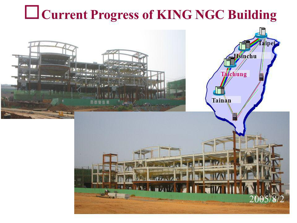 Current Progress of KING NGC Building 2005/8/2 Taichung Hsinchu Tainan Taipei