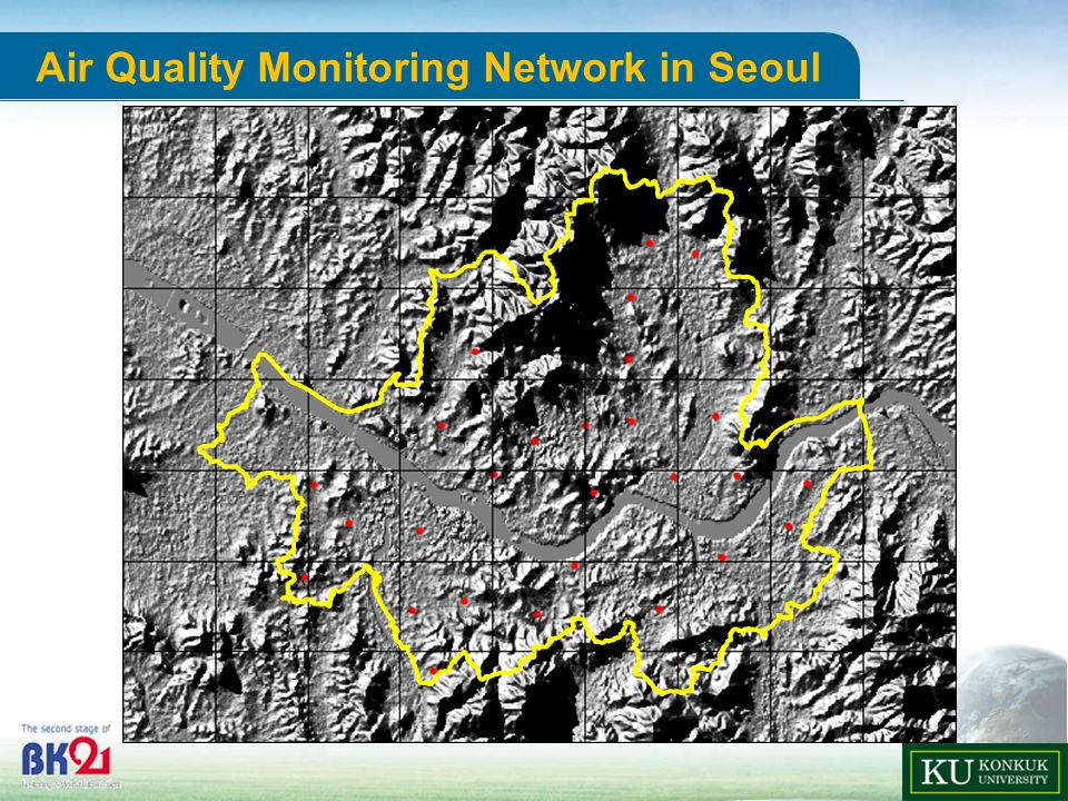 Department of ADVANCED TECHNOLOGY FUSION 6 u-Science Center Air Quality Monitoring Network in Seoul